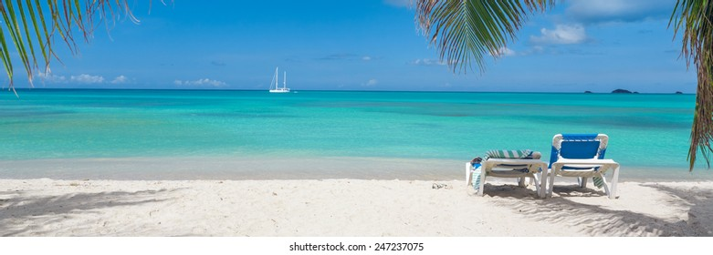 Tropical island beach panorama