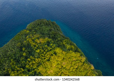 Tropical island of Koh Bon in Similan Islands aerial photograpy