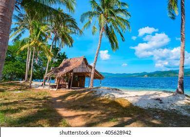 Tropical island landscape, El Nido, Palawan, Philippines, Southeast Asia