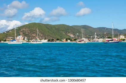 The tropical island on the Carribean Sea called St. Maarten.