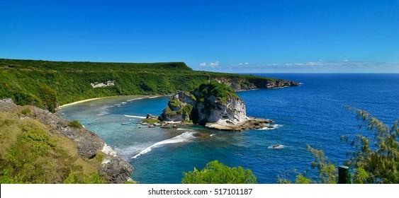 The tropical island of Saipan. The island called Bird.