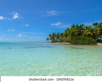 Tropical and isolated island view from the sea