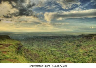 Tropical Jungle Landscape at Sipi Falls, Uganda