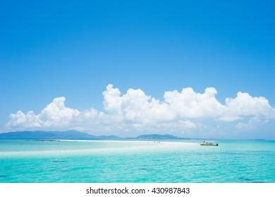 Tropical lagoon island paradise in Ishigaki island, Okinawa, Japan