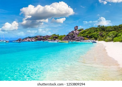 Tropical landscape on Similan islands, Thailand in a summer day