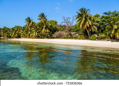 Tropical landscape of Sainte-Marie Island (Nosy Boraha), East of Madagascar