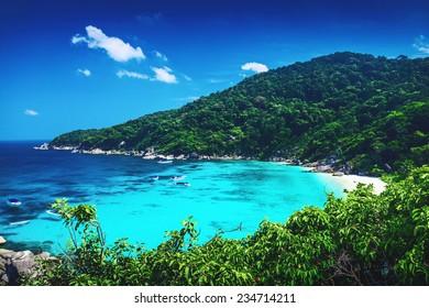 Tropical landscape. Similan islands, Thailand
