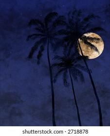tropical moon-rise
