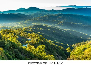 Tropical mountain view, Inthanon national park, Chiang Mai, Thailand.