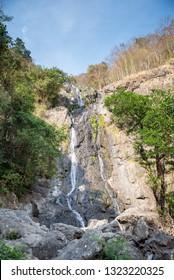 tropical nature in sarika waterfall at nakhon nayok province, Thailand .