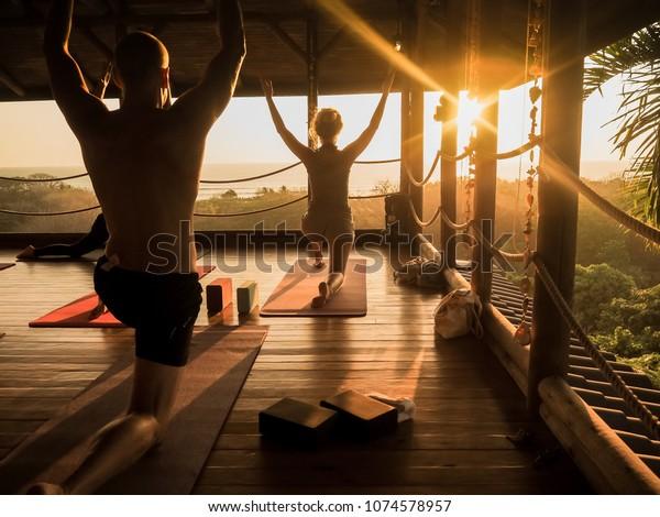 Tropical Open Yoga Studio Place People Stock Photo Edit Now 1074578957
