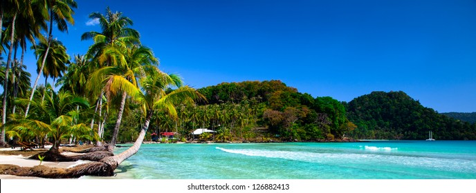 Tropical panoramic beach