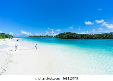 Tropical paradise beach of Japan, Iriomote-Ishigaki National Park of the Yaeyama Islands, Okinawa