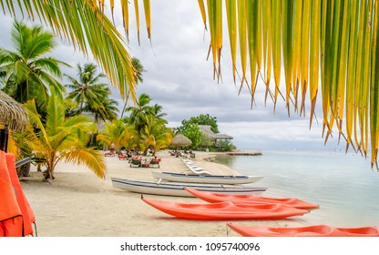 Tropical paradise beach in Moorea, French Polynesia