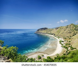 tropical paradise cristo rei beach near dili in east timor asia