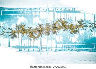 Tropical paradise near beach