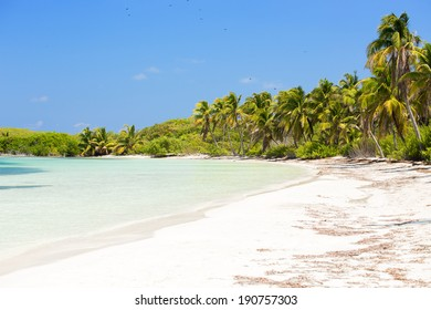 Tropical paradise on Contoy Island National Park, Mexico