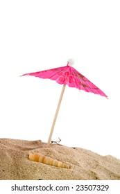 Tropical parasol at the beach
