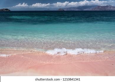 Tropical pink beach
