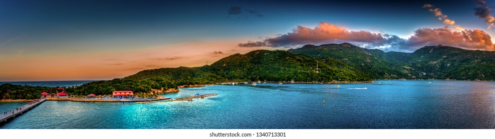 The tropical port of Labadee in Haiti
