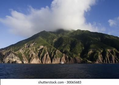 The Tropical rainforrest island of Saba (Netherlands Antilles)