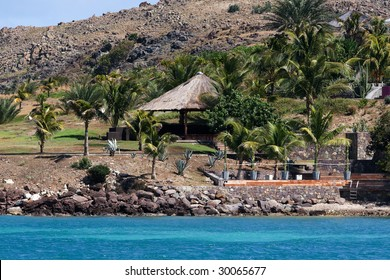 a tropical resort on the island of St Barths (french west indies)