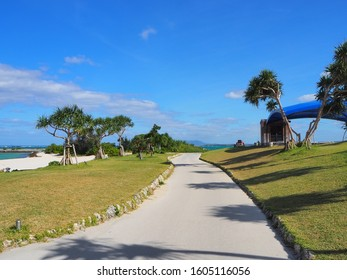 Tropical resort, a road to the beach