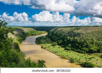 Tropical rio de Chavon, Dominican Republic. top