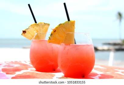 Tropical Rum punch cool drink