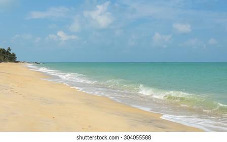 Tropical sea beach in Nakhon Si Thammarat, Thailand