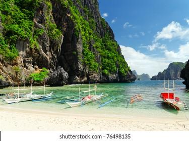 Tropical sea landscape. Philippines, El Nido.