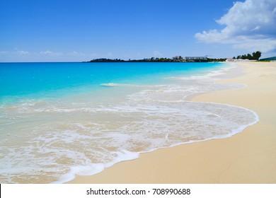 Tropical serene white sand beach