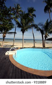Tropical spa resort with a swimming pool in Phuket, Thailand.