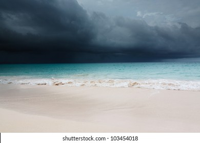 Tropical storm is coming at the Barbados