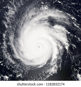 Tropical storm. Giant cyclone. Elements of this image are furnished by NASA.