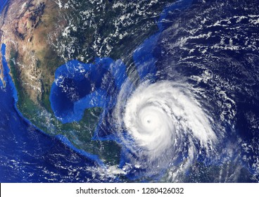 Tropical Storm  heading to USA.Elements of this image furnished by NASA.