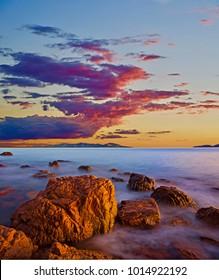 Tropical Sunrise off Townsville, North Queensland, Australia