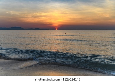 Tropical Sunrise Seascape - Overlooking the South China Sea from the beach at The Anam Resort, Cam Ranh, Nha Trang, Vietnam