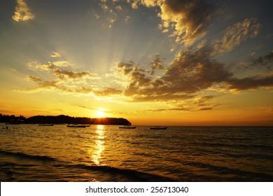Tropical sunset, Myanmar