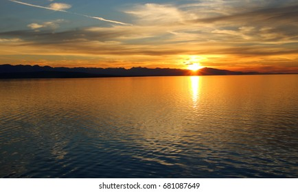 Tropical Sunset Over Water