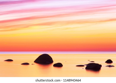 Tropical sunset. Sunset seascape