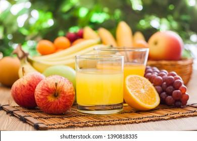 Tropical sweet juice,fresh mix fruits