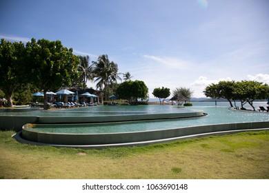 Tropical swimming pool.