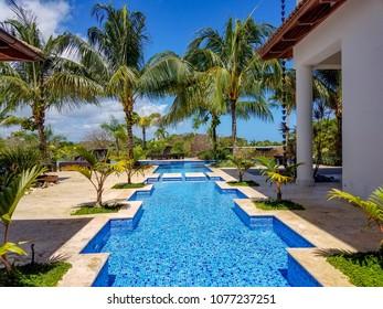 Tropical swimming pool facility