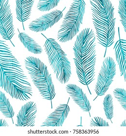 Tropical trendy seamless pattern with exotic leaves.