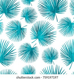 Tropical trendy vector seamless pattern with exotic plants.