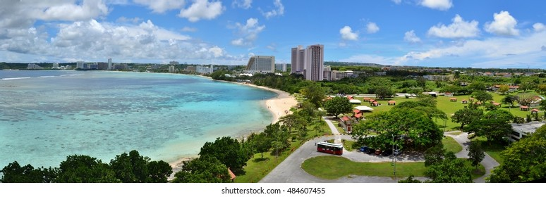 Tropical Tumon Bay in the tropical Pacific island of Guam, famous for its snorkeling.