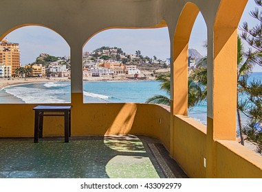 Tropical View from Arched windows