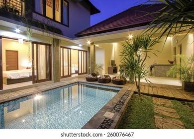 Tropical Villa. Bali island. Indonesia.