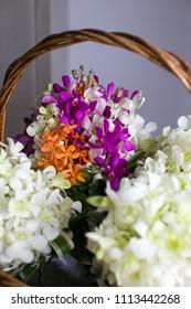 Tropical wedding flowers.